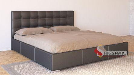 Кровать-подиум «Барбара» 140*190   Кожзам