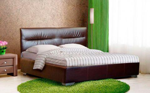 Ліжко мяке з ламелями (крок 6 см) • Камелія • 120х200