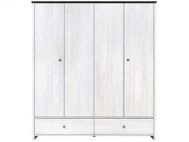 Шкаф платяной SZF4D2S + Полки SZF4D2S «Порто» Джанни | Сосна ларико