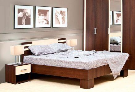 Ліжко Світ меблів ДСП Елегія - Лімба шоколад