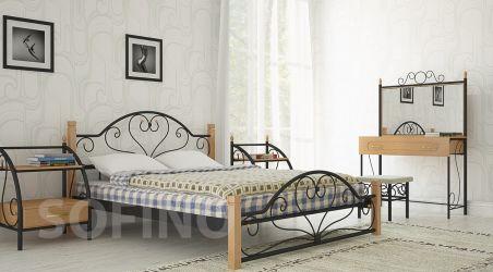 Кровать «Джоконда деревянные ножки» 140*190
