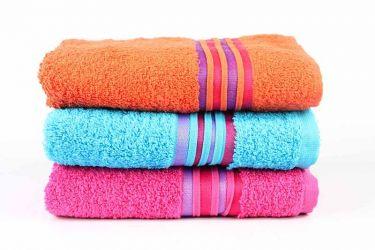 Набор махровых полотенец «Cotton» 50*90 | фуксия, оранжевый, бирюзовый | 3 шт.