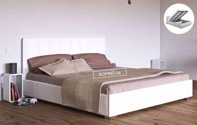 Кровать белая «Бест» 90*190 + механизм