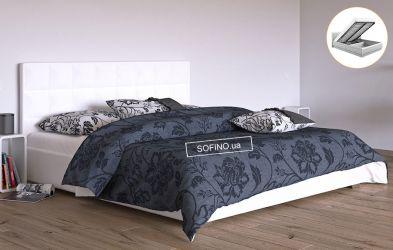Кровать белая «Гера» 90*190 + механизм