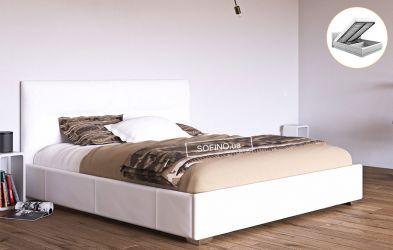 Кровать белая «Камелия» 120*190 + механизм