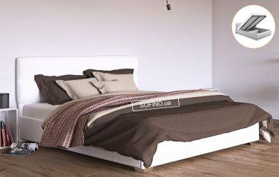 Кровать белая «Манчестер» 120*190 + механизм
