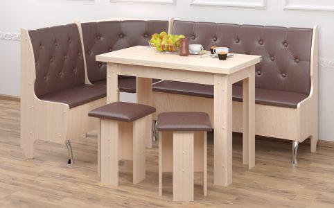 Кухонный уголок со столом и 2 табуретами «Адмирал»