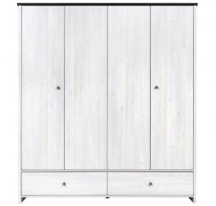 Шкаф платяной SZF4D2S «Порто» Джанни | Сосна ларико