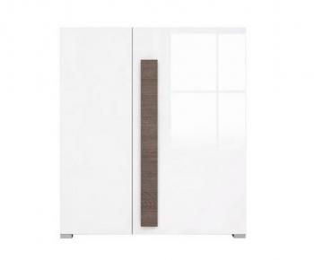 Шкафчик KOM2D «Доменика» Дуб сонома темный | Белый глянец