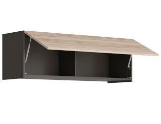 Шкаф навесной SFW1K/120 «Моден Р» Серый вольфрам | Дуб сонома темный