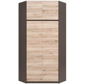 Шкаф угловой SZFN2D «Моден Р» Серый вольфрам | Дуб сонома темный