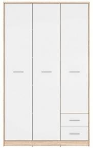 Шкаф SZF3D2S «Непо» | Дуб сонома | Нимфеа Альба