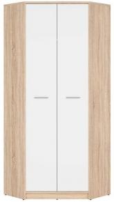 Шкаф угловой SZFN2D «Непо» | Дуб сонома | Нимфеа Альба