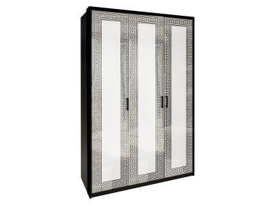 Шафа Міромарк «Віола 3Д» 212,5x137,8x55 Глянець білий + Мат чорний