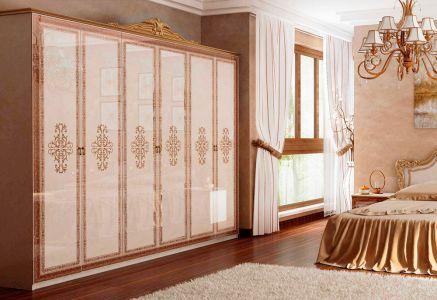 Шафа для одягу 6д без дзеркала «Золота Дженіфер»