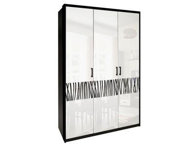 Шафа Міромарк «Терра 3Д» 212,5x137,8x55 Глянець білий + Мат чорний