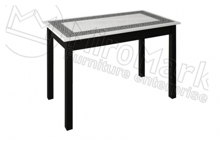 Фото Стол столовый «Виола» 160 | Черный мат - sofino.ua