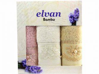 Набор полотенец «Elvan Bamboo» 30*50 | крем, беж, пудра
