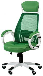 Кресло офисное «Briz green/white»