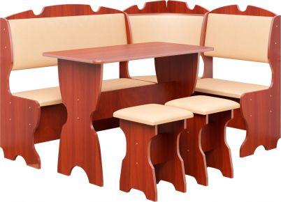 Фото Кухонный уголок «Комфорт» с табуретами и простым столом 100*60 - sofino.ua