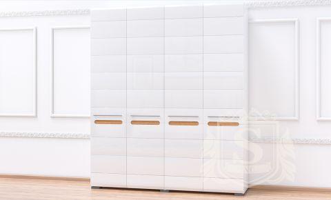 Шкаф платяной глянец «Бьянко 4Д»