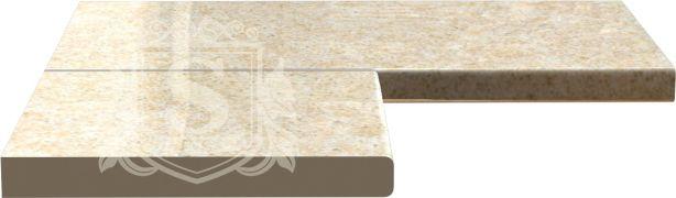 Фото Столешница угловая «Песок аравийский D8022-PE» - sofino.ua