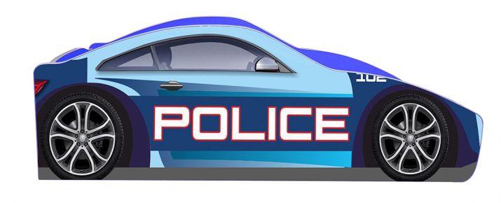 Кровать детская «Бренд Б-0005 | Полиция синяя» 70*140