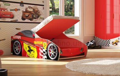 Кровать-машинка «Феррари Скудерия с подъемником» 60*120