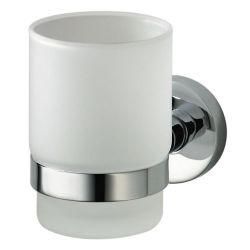 Стакан для зубных щеток одинарный 402302 «Kosmos chrome» HK