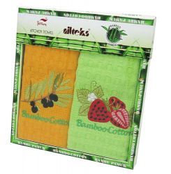 Набор полотенец Nilteks Bamboo-Cotton Fruits 3 2х40*60