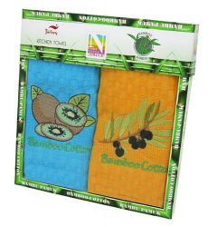 Набор полотенец Nilteks Bamboo-Cotton Fruits 5 2х40*60