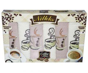 Набор полотенец Nilteks Кофе с печеньем 6х45*70