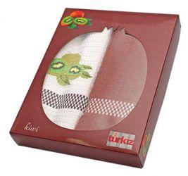 Набор полотенец Turkiz фрукты в коробке 2х50*70