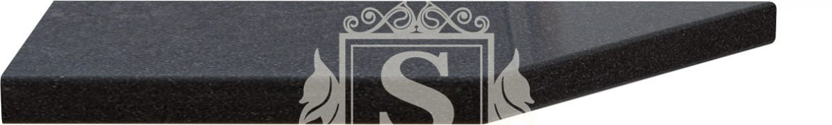 Фото Столешница угловая к модулям 17/37 «Керамика черная» - sofino.ua