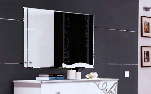 Зеркало «Богема» | Глянец белый