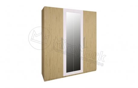 Шкаф 4Д «Соната» с зеркалом   Дуб Сан Марино