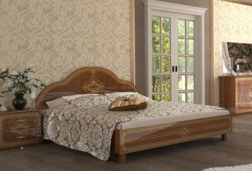 Кровать двуспальная «Футура Нова» с каркасом 1,6 | вишня бюзум