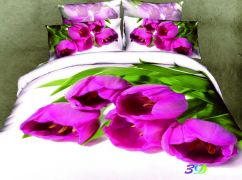 Фото Комплект сатин 3D «Букет тюльпанов» - sofino.ua