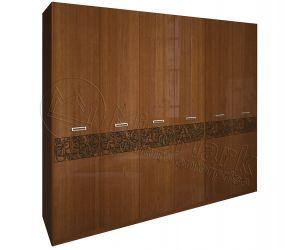 Шкаф 6 д «Флора рамка» вишня бюзум