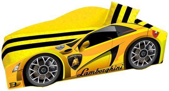 Кровать детская «Элит Е-3 | Lamborghini Yellow» 70*150