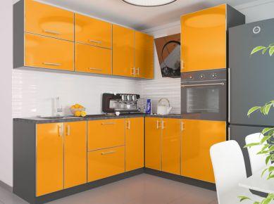 Фото Комплект угловой кухни «Миррор Глосс-3» - sofino.ua