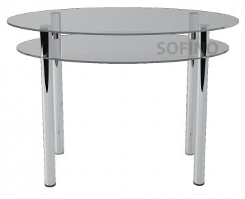 Стол обеденный «O2» 110*65 (Прозрачный)