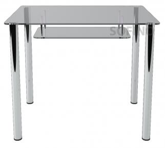 Стол обеденный «S3» 91*61 (Прозрачный)