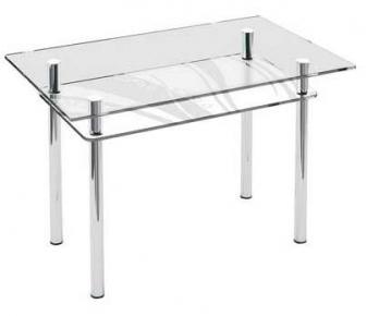 Стол обеденный «S6» 91*61 (Прозрачный)