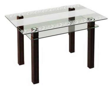 Стол обеденный «SW6» 91*61 (Прозрачный)