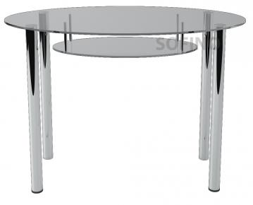Стол обеденный «О1» 110*65 (Прозрачный)