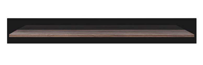 Полка P2/12 «Лайк» Ясень коимбра темный | Темный графит