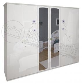 Шкаф 6д «Лулу» с зеркалом