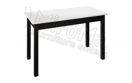 Фото Стол столовый «Терра» | Черный мат - sofino.ua