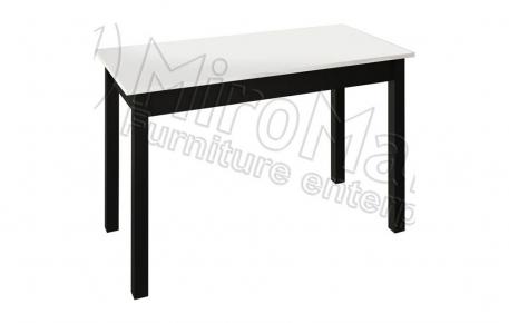 Фото Стол столовый «Виола» | Черный мат - sofino.ua